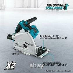 18V X2 LXT Li-Ion Plunge Circular Saw Cordless Battery 55T 6.5 in Carbide Blade