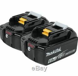 (2)Makita BL1860B 18v 6Ah LXT Li-ion Genuine Makstar Battery Pack