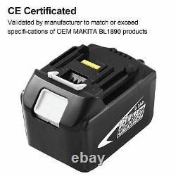 2X18V for Makita 9Ah Li-Ion LXT BL1890B Battery BL1860 BL1850 BL1830 LED Light
