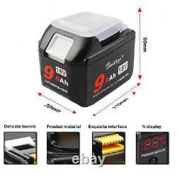 2x 18V 9.0Ah Li-ion Battery For Makita BL1830 1840 1850 LXT400 With LED Display
