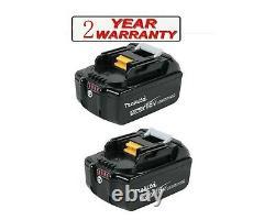 2x Genuine Makita BL1850B 5.0ah 18v LXT Li-ion Cordless Battery with Indicator
