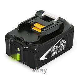 For Makita BL1850B 18V 5.0Ah LXT Li-ion Battery 196673-6 BL1860 BL1830 Cordless