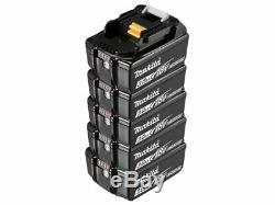 Genuine Makita BL1830 18v 3.0ah LXT Li-ion Makstar Battery Pack of 5