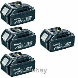 Genuine Makita BL1850 18 Volt 18V 5.0 Amp 5AH Lithium Li-Ion LXT Battery Pack X4