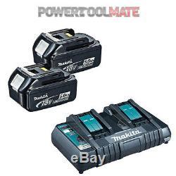 Genuine Makita BL1850 18v 5.0ah LXT Li-ion Battery TWIN PACK & DC18RD