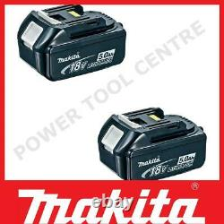 Genuine Makita BL1850 Pack Of Two 18 Volt 5.0Ah LXT Li-Ion Slide Battery Pack