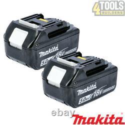 Genuine Makita BL1850 TWIN PACK 18v 5.0ah LXT Li-ion Battery with star