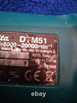 MAKITA MULTI TOOL 18V CORDLESS 390W Li-Ion LXT Keyless DTM51Z & 3.0Ah BATTERY