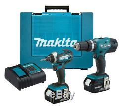 Makita 18V LXT Li-ion Combi Drill & Impact Driver Twin Pack inc 2x 4AH Batteries