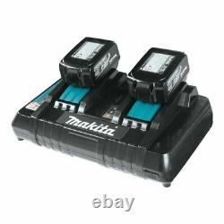 Makita 18v 4ah LXT 2 x BL1840B Li-ion Battery & DC18RD Twin Port Charger Kit