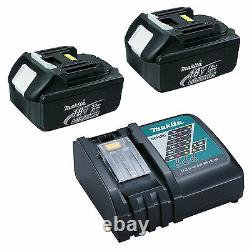 Makita 18v Lxt LI Ion Dc18rc Charger And Genuine 2 Pack Batteries Battery Pack