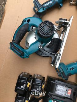 Makita 6 piece 18v LXT li-ion combo kit twin set, SDS, saw, multi, torch FWO