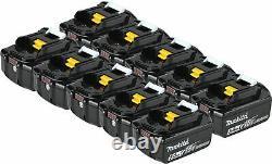 Makita BL1850B-10 18V LXT Li-Ion 5.0Ah 18 Volt Battery 10 Pack Genuine BL1850b