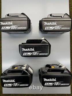 Makita BL1850B 18v 5.0ah LXT 18v Li-ion Battery Makita Genuine x 5 (5 x BL1850B)