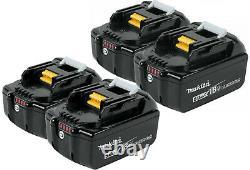 Makita BL1850B-4 18V LXT Li-Ion 5.0Ah 18 Volt Battery 4 Pack Genuine New BL1850b