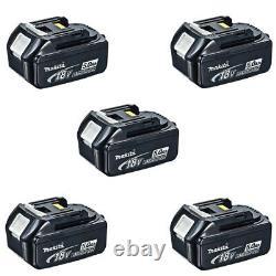 Makita BL1850X5 18V 5.0Ah LXT Li-ion Genuine Makstar Battery (Pack of 5)