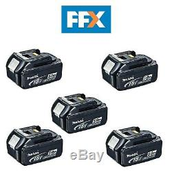 Makita BL1850X5 5 x 18v 5.0Ah LXT Li-ion Genuine Makstar Battery Pack