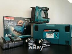 Makita DBN500 LXT 18v Cordless 50mm Brad Nailer Nail Gun Li-Ion + 2x 3.0ah