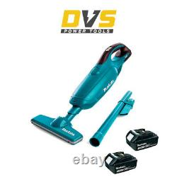 Makita DCL180Z 18v LXT Li-Ion Cordless 600ml Vacuum Cleaner with 3.0Ah Batteries