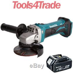 Makita DGA452Z 18V LXT Li-Ion 115mm Angle Grinder with 1 x 4.0Ah BL1840 Battery