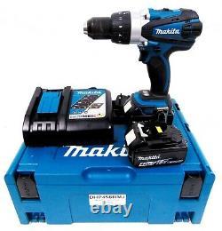 Makita DHP458RMJ 18v LXT Cordless Combi Hammer Drill 4.0Ah Li-Ion Batteries