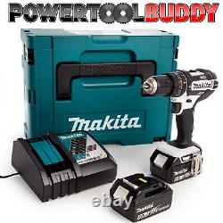 Makita DHP482RTWJ 18V LXT Li-ion Combi Drill With 2 x 5.0Ah Batteries & Charger