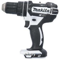 Makita DHP482Z White LXT Li-ion 18V Combi Drill With 1 x 5Ah Battery