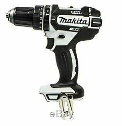 Makita DHP482Z White LXT Li-ion 18V Combi Drill With 2 x 3Ah Batteries