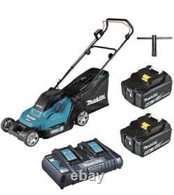 Makita DLM432PT2 Twin 18V (36V) Li-ion LXT 43cm Lawn Mower 2 Batteries & Charger