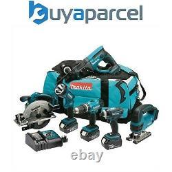 Makita DLX6017 18v 6 Piece LXT Cordless Tool Kit Lithium Ion Li-Ion 3x 3ah Batts