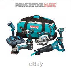 Makita DLX6072PT 18v 3x5.0Ah LXT Li-ion 6pc Power Tool Kit