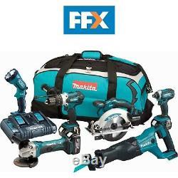 Makita DLX6072PT3 18v 3x3.0Ah LXT Li-ion 6pc Power Tool Kit DLX6072PT