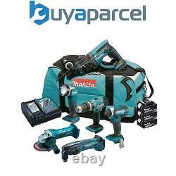 Makita DLX6075M 18v 6 Piece LXT Cordless Tool Kit Li-Ion 3 x 4.0Ah Batteries