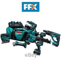 Makita DLXFFX8PC 18v 4x5.0Ah LXT Li-ion 8pc Power Tool Kit