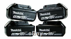 Makita DLXFFX9PC 18v 4x5.0Ah LXT Li-ion 9pc Power Tool Kit