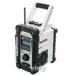Makita DMR109W 10.8v/18v LXT/CXT LI-ion Job Site Radio White Body Only