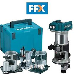 Makita DRT50ZJX3 18v LXT 2x5Ah Li-ion Brushless Router/Trimmer with Extra Bases