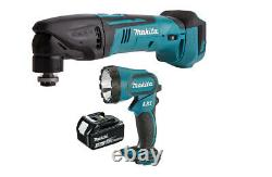 Makita DTM50 Multitool + DML185 Flash Light Li-Ion 18V + BL1830 Li-Ion Battery