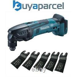 Makita DTM50Z 18v LXT Li-Ion Cordless Multi Tool Bare Unit + 5 BIM Plunge Blades
