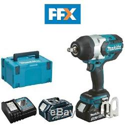 Makita DTW1002RTJ 18V 2x5.0Ah Li-ion LXT Brushless 1/2In Impact Wrench Kit