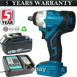 Makita DTW190Z 18V LXT Li-ion Brushless Cordless 1/2 Impact Wrench 2 xBatteries