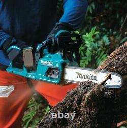 Makita DUC405RT2 Twin 18v 36v LXT Li-Ion Cordless Brushless Chainsaw 40cm 2x3ah