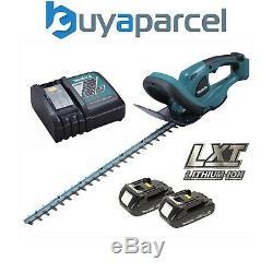 Makita DUH523 LXT 18v Li-Ion Cordless Hedge Cutter 52cm 2 x Batteries Charger