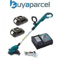 Makita DUR181 LXT 18v Li Ion Cordless Line Trimmer Strimmer 2x Batteries Charger