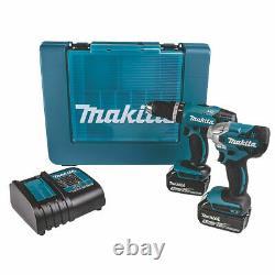 Makita Dlx2336s 18v 3.0ah Li-ion Lxt Cordless Twin Pack Drill & Impact Driver