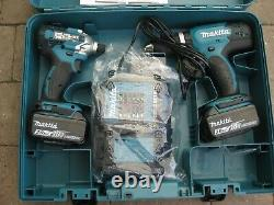 Makita Dlx2336s 18v 3.0ah Li-ion Lxt Cordless Twin Pack Drill & Impact Set
