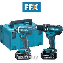 Makita FFX DLX2131/3 18V 2x3.0Ah Li-ion LXT Combi and Impact Twin Kit