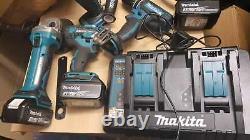 Makita FFX5PCKIT 18V LXT 3x3.0Ah Li-Ion Cordless 5 Piece Kit Dual DC18RD Charger