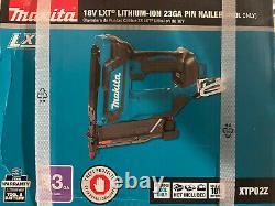 Sealed Makita 18V LXT 23 Ga Li-Ion Cordless Pin Nailer XTP02Z BRAND NEW