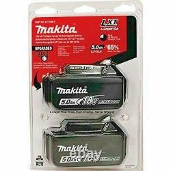 TWIN-PACK MAKITA BL1850B-2 18V GENUINE LXT LI-ION BATTERIES 5.0Ah 18 Volt 5Ah